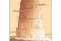 The Tower of Babel Bible Activities / Not long after the flood, people got together and decided to make a name for themselves by building a huge tower. God saw their arrogance and where it would take them and intervened mercifully. He confused the languages of the people so that construction on the tower couldn't continue. These Bible activities for children will help kids learn about this event.