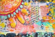 Art journals,collage,mix media *A
