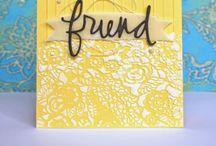 *cards with embossing folders+dies #2