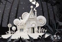 Paper sculpture and paper art