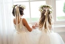 Gorgeous flower-girls, just so sweet x / Sweet hairstyles and their cute lil dresses!