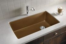 Single Basin Kitchen Sinks / Some modern designers prefer the look of a single bowl kitchen sink.