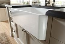 Fireclay Sinks / Heavy farm style sinks made with solid fireclay material which is more durable than any other sink material