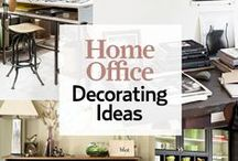 Home Office: Decorating Ideas / Work from a home office?  Need some decor inspiration or ideas on how to cram a lot into a small space?