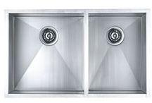 Stainlass Zero Radius Kitchen Sinks / Modern utility with Stainlass Zero Radius kitchen sinks