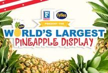 """Fyffes and Food City present the World's Greatest Pineapple Pinterest Board! / In celebration of breaking the record for the """"World's Largest Pineapple Display"""" at Food City's Bristol, VA Store 821, Turbana's Fyffes and Food City have put together the """"World's Greatest Pineapple Pinterest Board."""" Use #Pineappleworldrecord, follow and like @_Turbana and @FoodCity and we may include your recipe, fun fact, or product that makes pineapples so awesome! / by Turbana"""