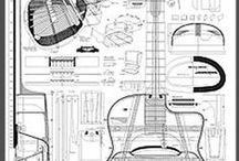 Gitarrenbaupläne / Guitarplans, Zeichnungen und Konstruktionen von Gitarren,Zupfinstrumente und ähnlichem