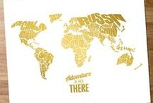 Gold Foil Print Designs / Print or Canvas designs with a gold foil effect on a white background.