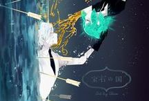 Hōseki no Kuni / You should expect a loooooot of Phos and Antarc. Mostly Antarc. But also Phos. Omg I love them both I suffer so much about gemstones send help pls (send my ray of sunshine back)