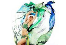 Voile de dance/Bellydance silk veil By Les Soies de Mini Fée / Custom and Ready to dance collections hand painted silk veil for belly dancer by Les Soies de Mini Fée.  Voile de danse création sur mesure et prêt à danser par Les Soies de Mini Fée www.lessoiesdeminifee.com