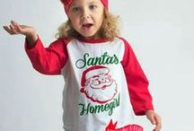 Christmas! / The Christmas Holiday season.  Baby outfits, mugs, shirts, lights, Christmas trees, candy cane's, cards, gifts, & much more!
