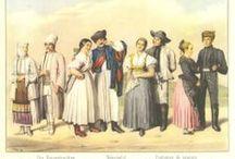 Folkwear of Hungary -Watercolor / Nagyar népviselet 19. és 20. század elején készült  rajzok és aquarellek