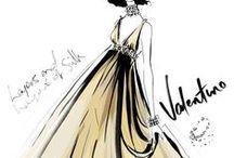 Fashion sketch and illiustration / A rajztudást is figyelembe vettem .