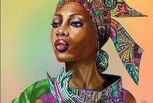 Illustrations of exotic women / Európai mércével exoticusak ezek a hölgyek, csodásak.