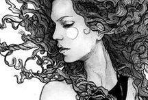 Graphics about women / Finom, légies  nők és rajzok