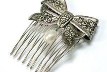 Hat pin, hair comb,  brooch / Gyönyörű kalaptűk, hajdiszek, brossok .