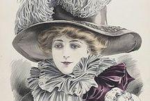 Vintage hat illustration / 17-20. századi kalap tervek