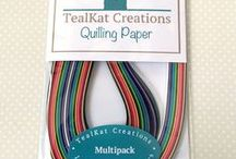 Quilling Paper / This is quilling paper from my shop, TealKat Creations on Etsy.