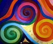 Abstract paintings   MÁRTA BOLLA'S / Absztrakt festményeimet mutatom be.  A képek eladók.