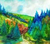Landscape paintings Marta BOLLA'S / Tájakat, épűleteket ábrázoló festményeimet mutatom be - A képek eladók