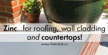 Zinc Interiors & Countertops / Did you know zinc is used on interiors?  Wall cladding and countertops just to make a few!