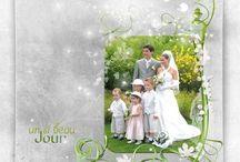 scrap mariage / Pages de scrapbooking virtuel sous Photoshop