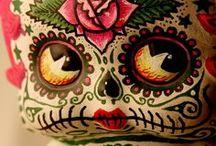 dia de los muertos / and...assorted skellies and skulls.. / by Kathleen Bell