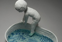 grimace, head, mask, bust, porcelain sculpture, ceramic tiles, plaques, & mosaics
