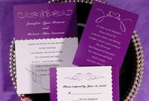Purple Wedding Theme / Inspiration board for weddings in the color purple.
