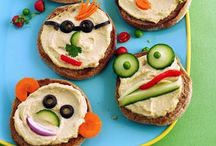 Kids Food & Food Art Ideas / Simple, healthy, engaging and nutritious munchies for little bellies.  Either made by adults or by kids themselves.  Great baby, toddler and kids food ideas... especially with picky eaters in mind!