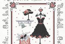 Cross stitch paris doll