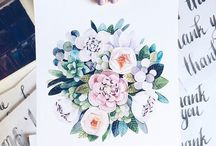 Watercolor and drawing ideas