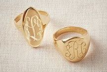 Signet Rings / Ladies and Gents Traditional Crest and Initial Signet Rings