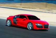 Audi R8 V-10 / The Audi R8 is the ultimate execution of Audi performance. Its mid-mounted engine with four-valve FSI® technology produces 430 hp and accelerates the Audi R8 to 60 mph in 4.4 seconds. Put this machine to the test on a the exclusive SPEEDVEGAS racetrack.