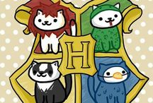 Hogwarts Houses / The houses of Gryffindor, Slytherin, Ravenclaw and Hufflepuff