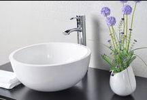 Wasch- und Standbecken aus Mineralguss / Wasch- und Standbecken aus Mineralguss
