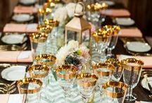 Table de mariage / Décoration pour sa table de mariage www.mllebride.com