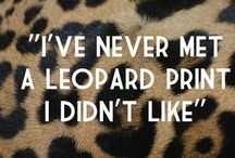 L e o p a r d L o v i n g / Leopard Loving and some other lovely animal prints ^*,