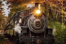Поезда.  Trains &  railroad.
