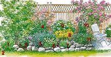 Сады и цветники. Схемы.