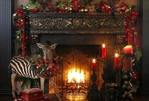 Mantle Magic / A fireplace Mantle can be decorated to express the Celebrations of the Different Seasons. For me ..... It completes a room !