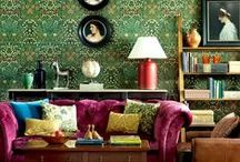 INTERIORS / interior design ideas / colorful living rooms