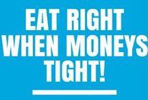 Eat Right when Money is Tight! / Simple recipes that students can make, how to cook for one, websites that help you decide what to eat!