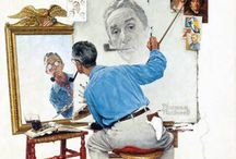 ART:NORMAN ROCKWELL (1894-1978)!! / by Sandy Parish