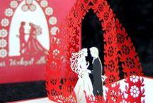 POP-UP Karten Hochzeit / Filigrane Papierkunst zur Hochzeit - Pop-Up Karte   #popupkarte #colognecards #hochzeitskarte  #popupkarten #hochzeit