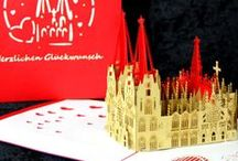 POP-UP Karten Kölner Dom / Der Kölner Dom als filigrane Pop-Up Karte   #popupkarte #colognecards #kölnerdom  #popupkarten