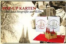 POP-UP Karten Köln Weihnachten / filigrane Pop-Up Karten - Weihnachtsgrüße aus Köln   #popupkarte #colognecards #kölnerdom #weihnachtskarte #popupkarten