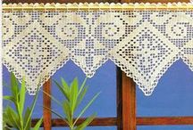 7 - home decor crochet and knit projects / crochet and knit blanket, afghan, rug, doily, tablecloth, curtain, pillow, chair cover, ...
