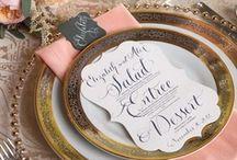 Wedding - Menus and Invites Inspiration