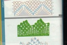 Crochet edging / Crochet used to make decorative borders or edges on one's projects. / by Sandie Major